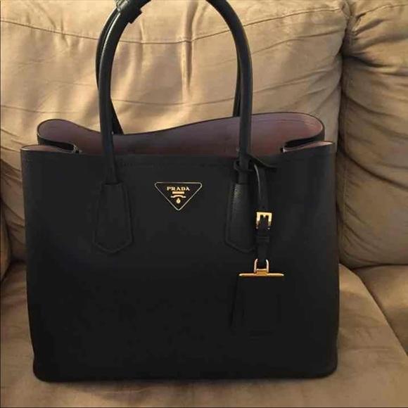 6e427c4551ac49 Prada Bags | Saffiano Double Medium Bag | Poshmark